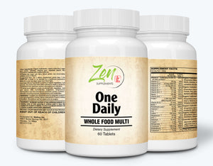 One Daily Whole-Food Multi-Vitamin - Probiotics & Enzymes - 60 Tabs