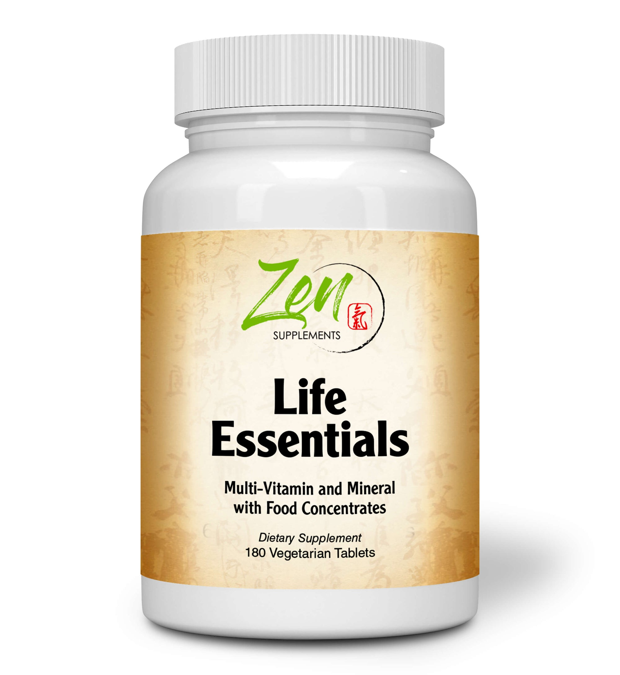 Life Essentials Whole-Foods Multi-Vitamin - With Probiotics & Digestive Enzymes - 180 Tabs