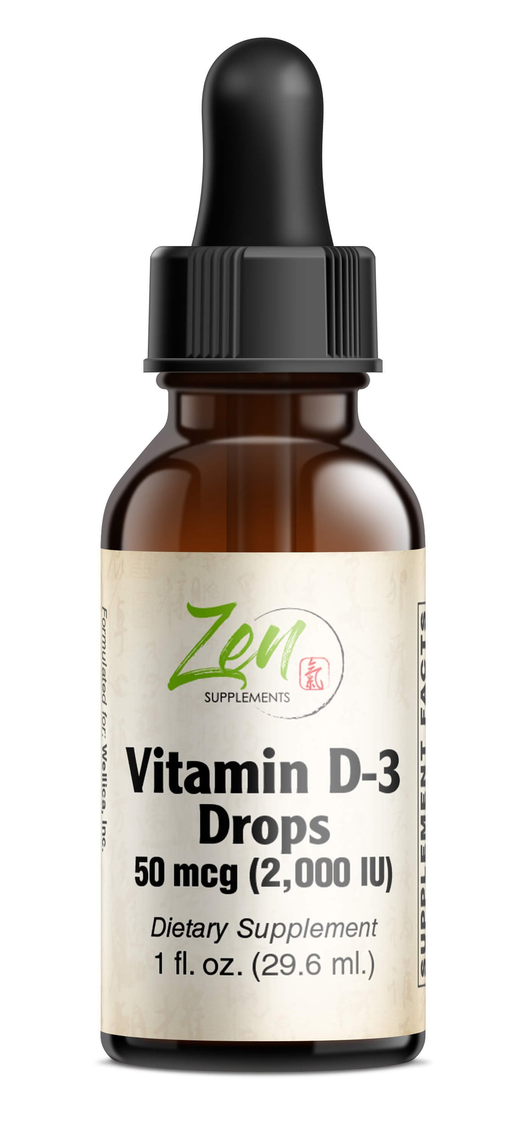 Vitamin D-3 2000IU Drops - 1oz Liquid