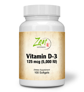 Vitamin D-3 5000IU - 100 Softgel