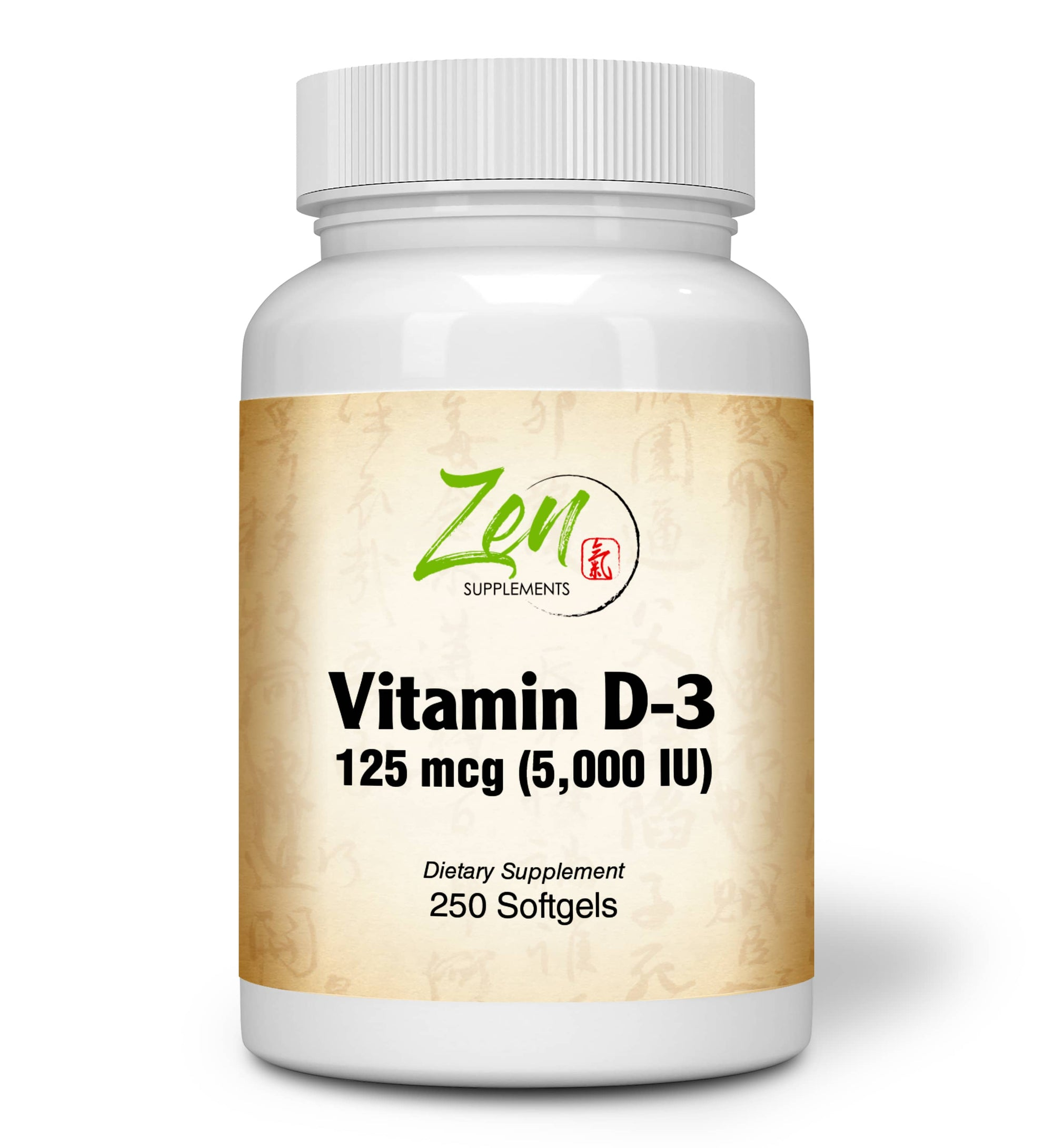 Vitamin D-3 5000IU - 250 Softgel