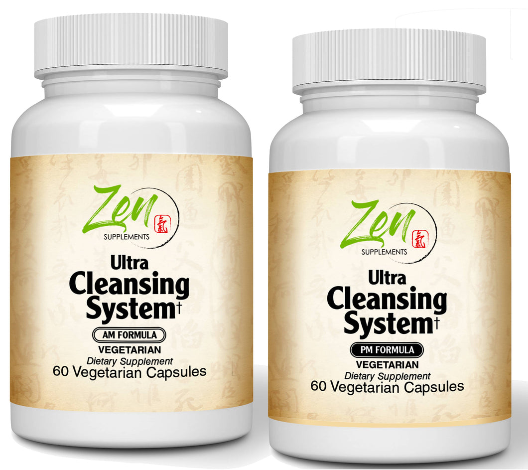 Ultra Cleansing System AM/PM Kit - 100% Herbal Blends - 30 Day Cleanse