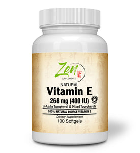 Vitamin E-400 - With Mixed Tocopherols - 100 Softgel