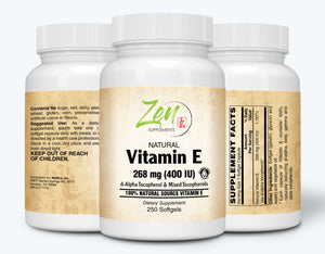 Vitamin E-400IU - With Mixed Tocopherols - 250 Softgel