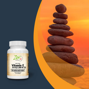 Vitamin E 1000IU - With Mixed Tocopherols - 100 Softgel
