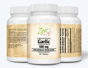 Garlic 500mg Extract - Enteric Coated - 60 Tabs