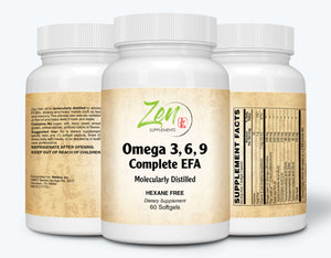 Omega 3-6-9 - Sourced from Deep Sea Fish, Flax Seed & Borage Oils - 60 Softgel