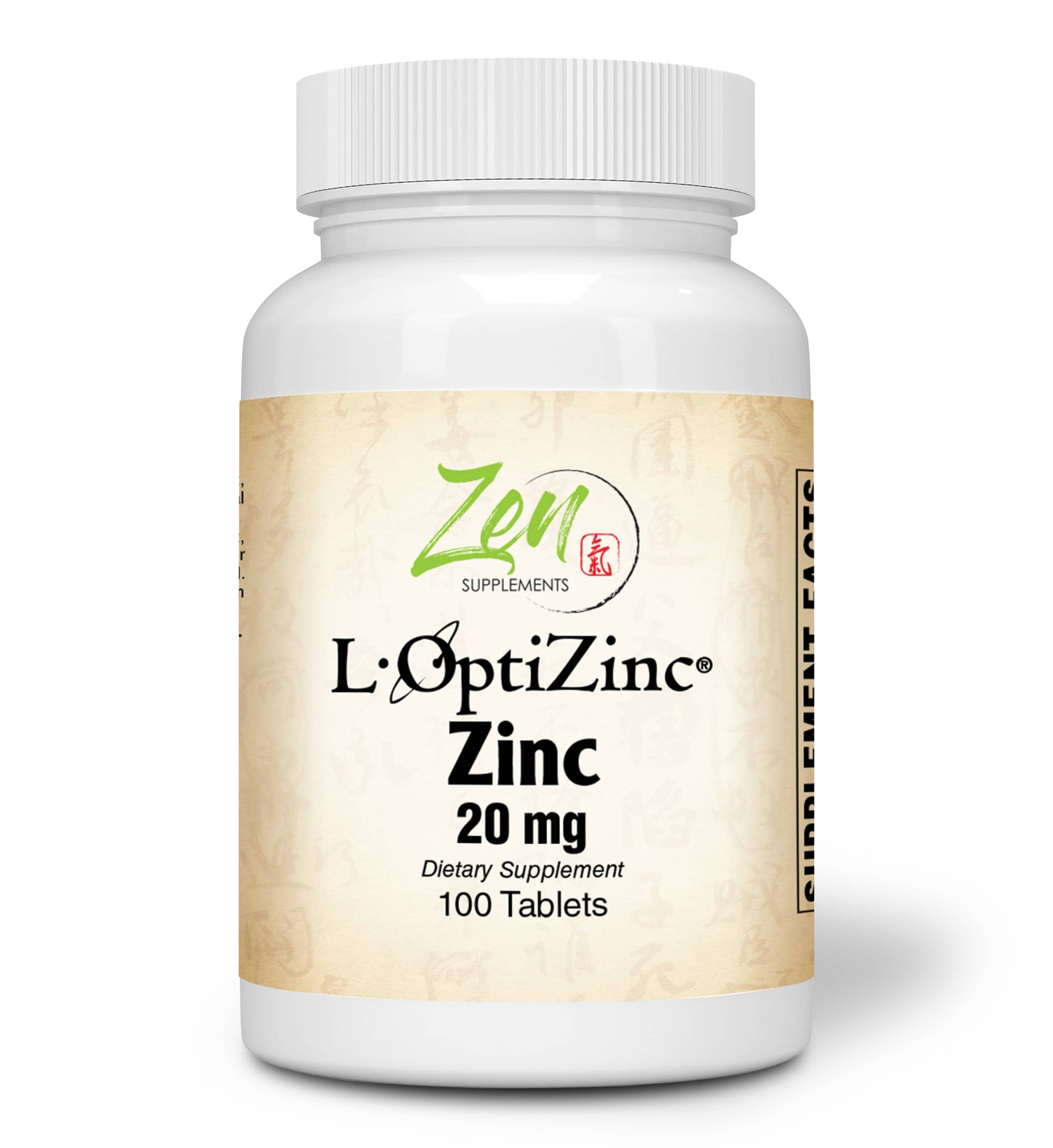 Zinc 20mg - With L-OptiZinc® - 100 Tabs
