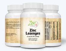 Load image into Gallery viewer, Zinc Lozenges 15mg - 60 Lozenge