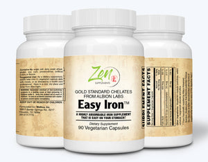 Easy Iron 25mg - Red Blood Cell Supplement - 90 Vegcaps
