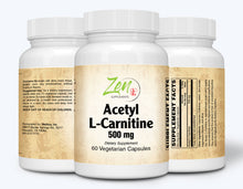 Load image into Gallery viewer, Acetyl L-Carnitine 500mg - 60 Vegcaps