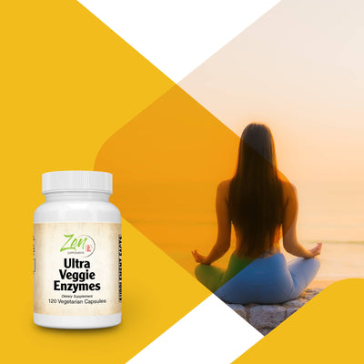 Ultra Veggie Enzymes - Digestion Support For Vegetables, Beans and Carbohydrates - 120 Vegcaps