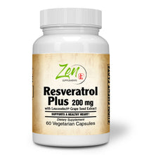 Load image into Gallery viewer, Resveratrol Plus 200mg Anti Aging Antioxidant Supplement - 60 Vegcaps
