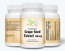Load image into Gallery viewer, European Grape Seed Extract 100mg - 90 Vegcaps