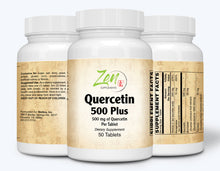 Load image into Gallery viewer, Quercetin 500-Plus Antioxidant - w/ ADDL Beneficials - 50 Tabs