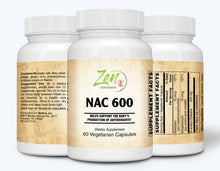 Load image into Gallery viewer, NAC 600 Plus - N-Acetyl Cysteine - 60 Vegcaps