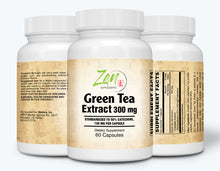 Load image into Gallery viewer, Green Tea Extract 300mg - With Antioxidants & Polyphenols - 60 Caps