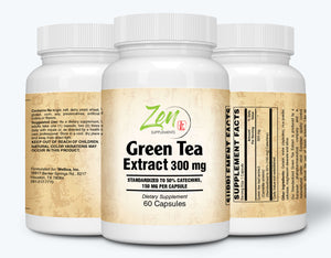 Green Tea Extract 300mg - With Antioxidants & Polyphenols - 60 Caps