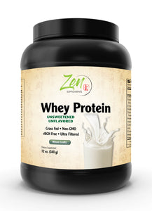 Organic Grass Fed Whey Protein - Unflavored - 12oz Powder