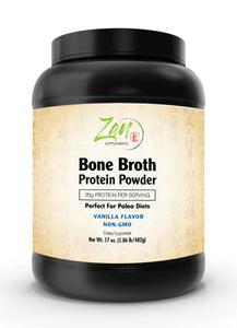 Bone Broth - Vanilla - 1 LB Powder