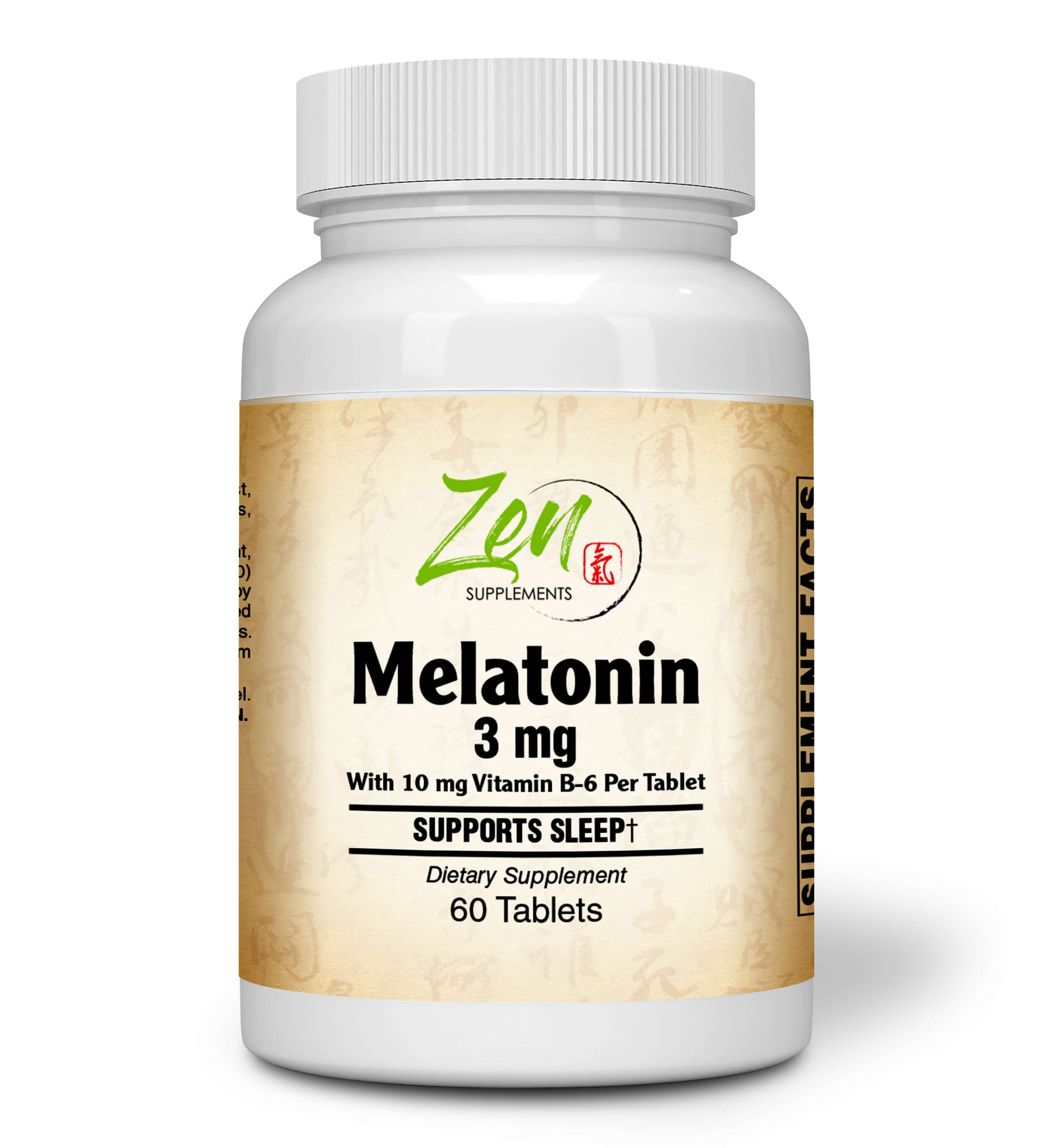 Melatonin 3mg - With Vitamin B-6 - 60 Tabs