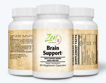 Load image into Gallery viewer, Brain Support - With Ginkgo Biloba, DHA & L-Carnitine - 60 Vegcaps