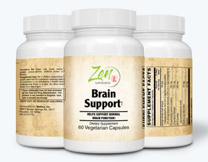 Brain Support - With Ginkgo Biloba, DHA & L-Carnitine - 60 Vegcaps