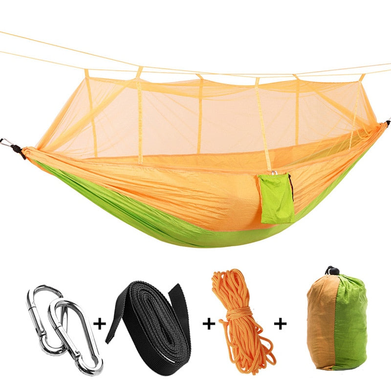 Qualybuy Outdoor Camping Netted Hammock