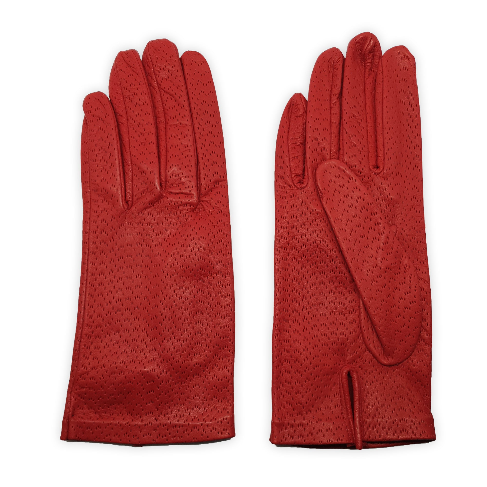 Unlined genuine leather gloves stitched inside all hammered for fresh comfort