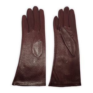 Genuine leather gloves unlined all hammered 4 inch long Polignano model