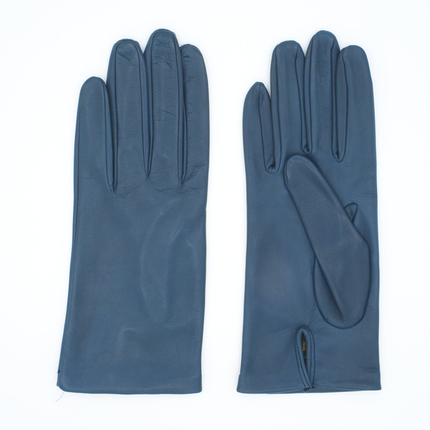 Women's leather gloves lined in avion color silk art. Elbe
