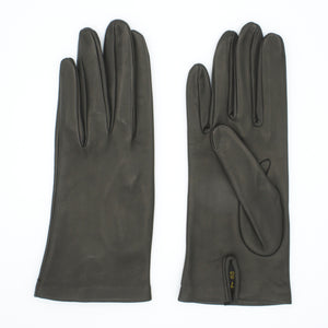 Women's leather gloves lined in black silk art. Elbe