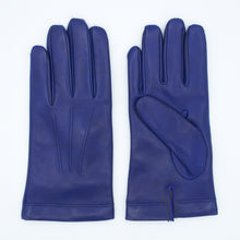 Load image into Gallery viewer, Men's leather gloves lined in 100% cashmere royal color art. Zeus