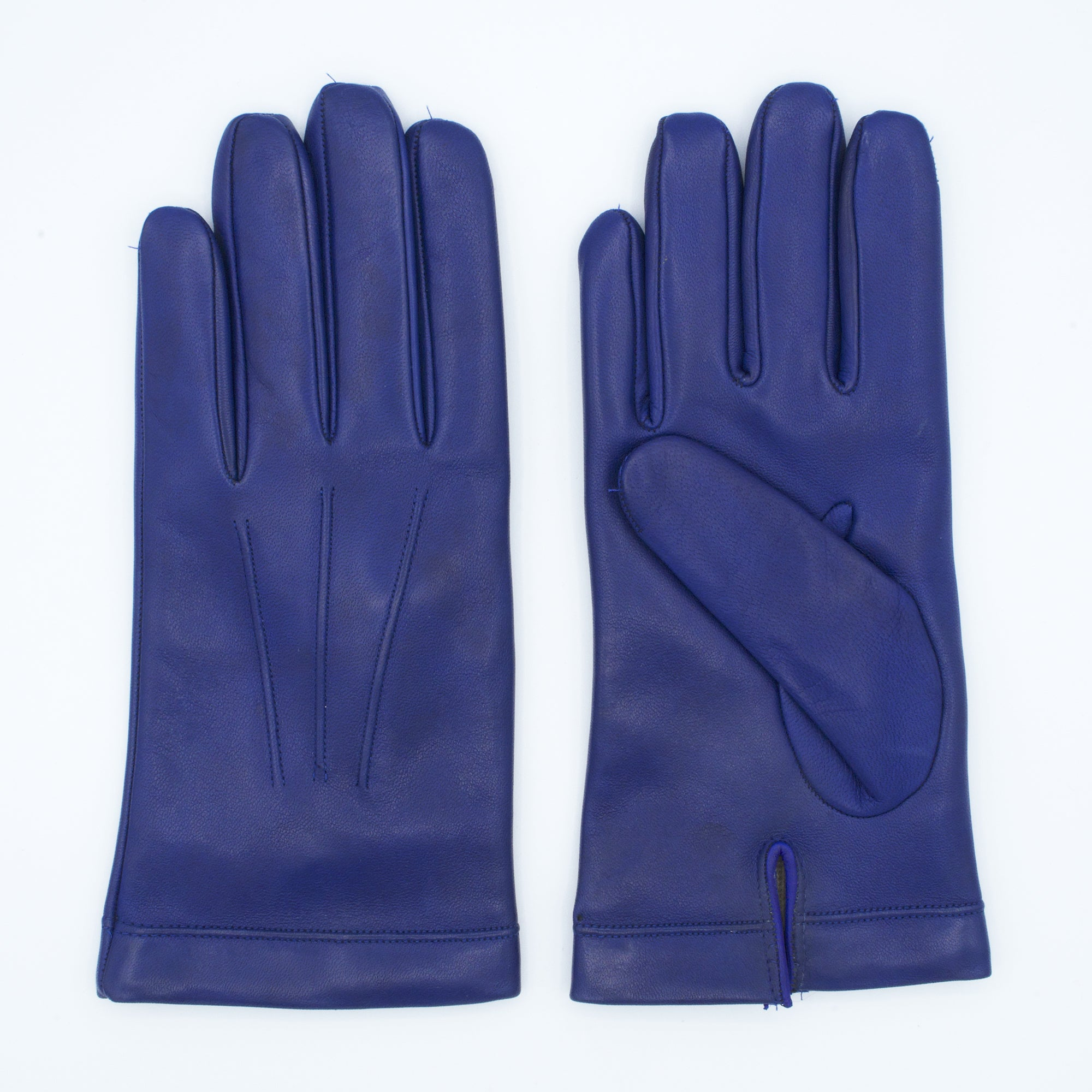 Men's leather gloves lined in 100% cashmere royal color art. Zeus