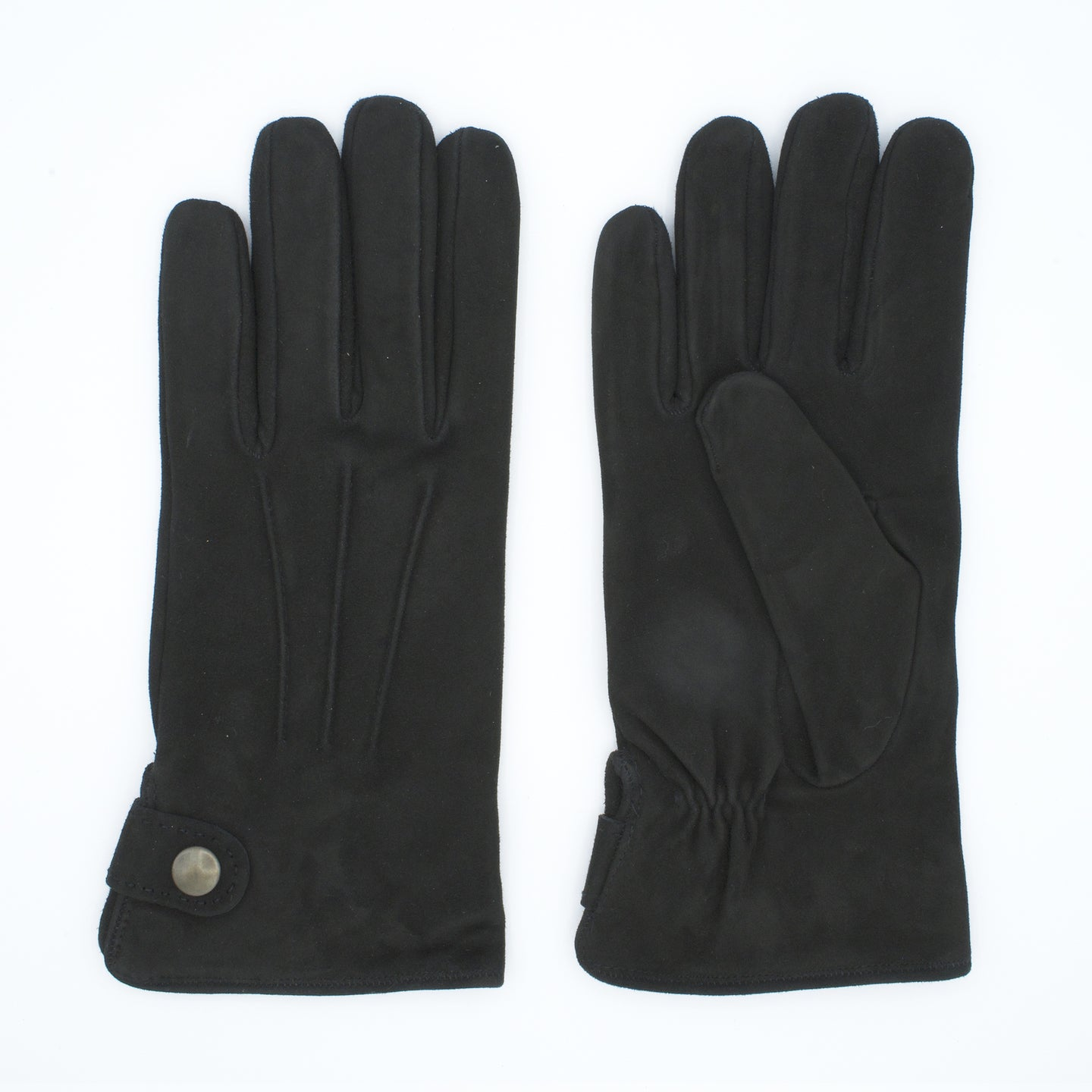 Men's leather gloves lined in cashmere Mod. Nerone
