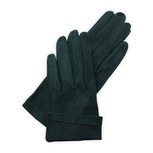Gloves in real leather, suede, unlined, stitched inside