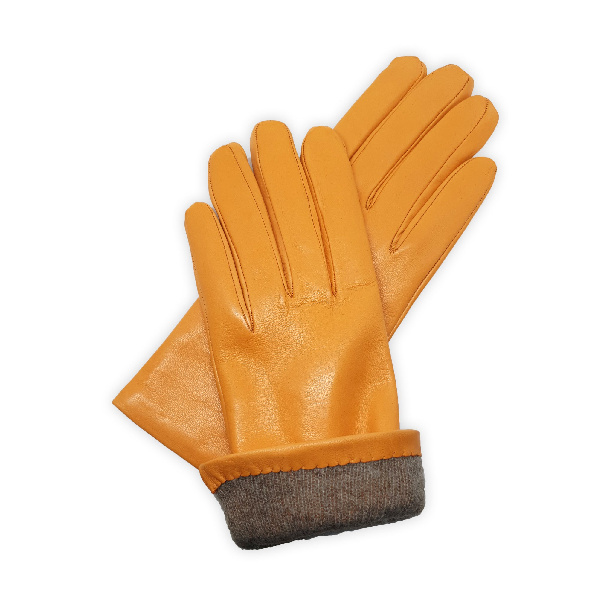 Gloves in real leather lined in 100% cashmere practical for everyday Cagliari model