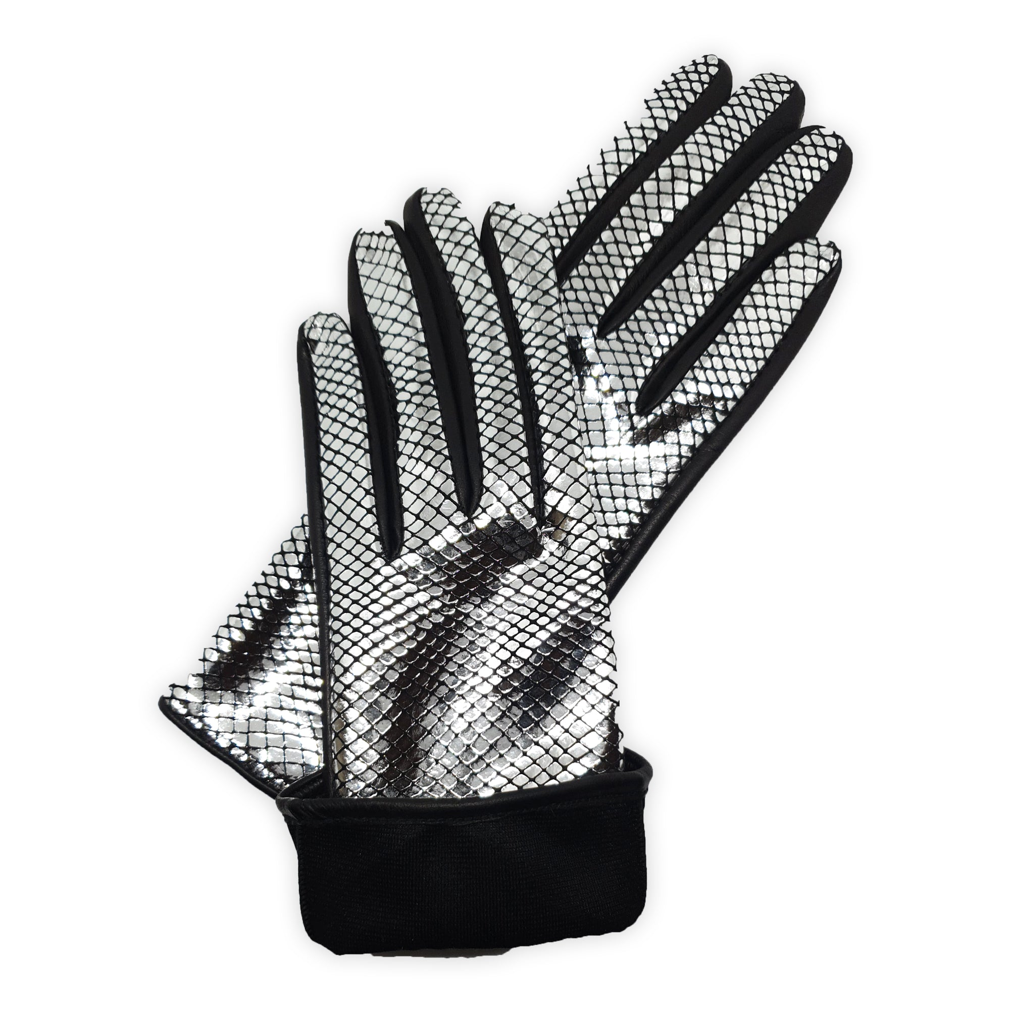 Gloves in real leather lined in 100% silk with Capri model printed back