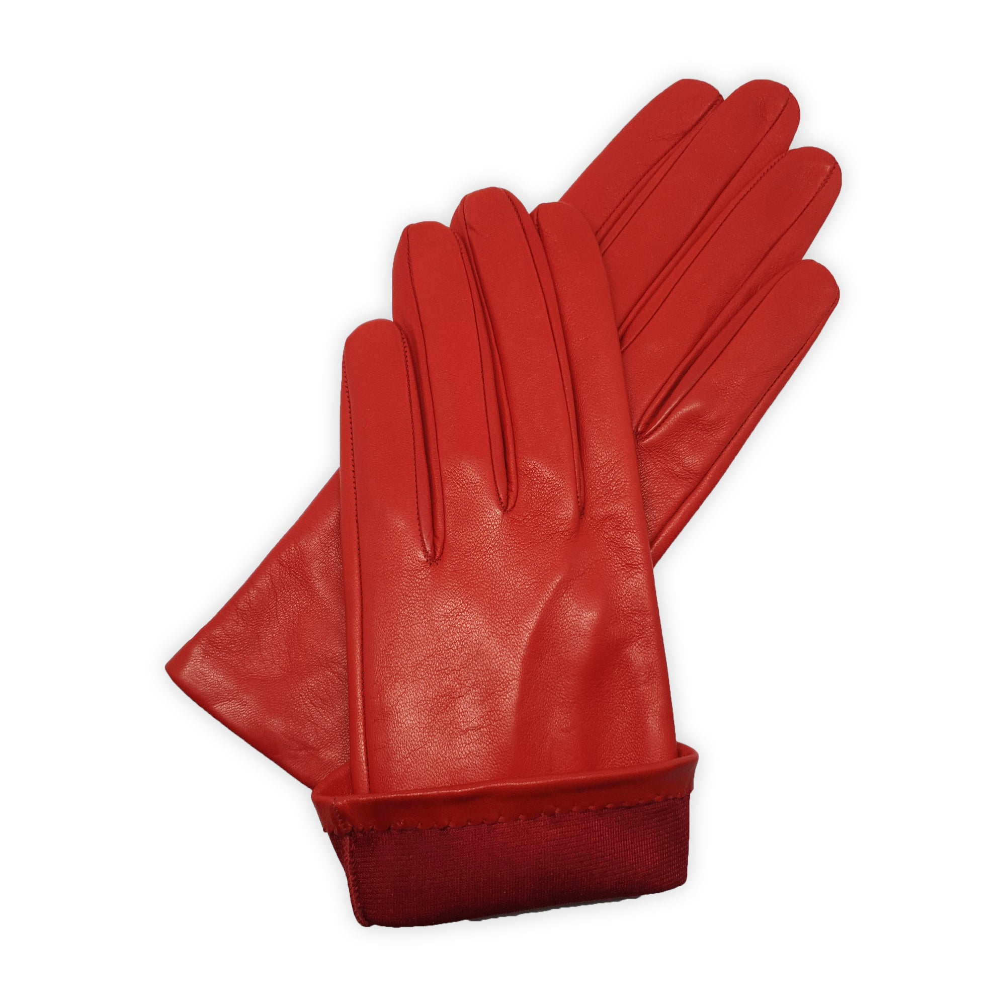 Real leather gloves lined in 100% simple chesciual silk, Treviso model