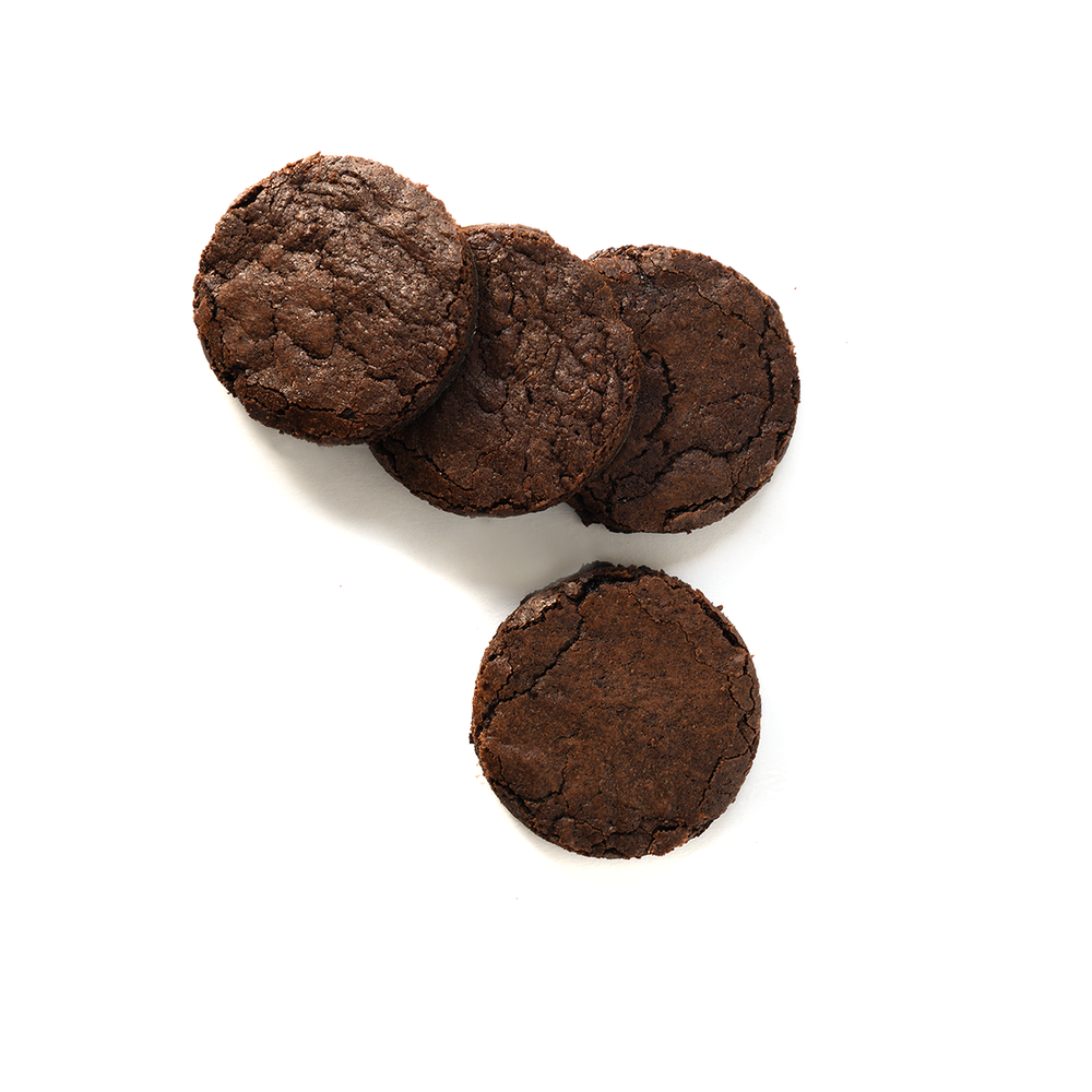 Deep Dark Chocolate Fudge Cookies