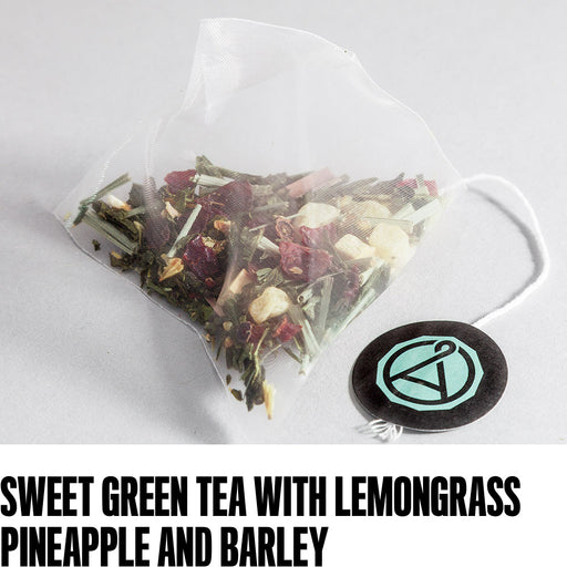 Sweet green tea with lemongrass, pineapple and barley