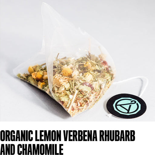 Organic Lemon Verbena Rhubarb and Chamomile