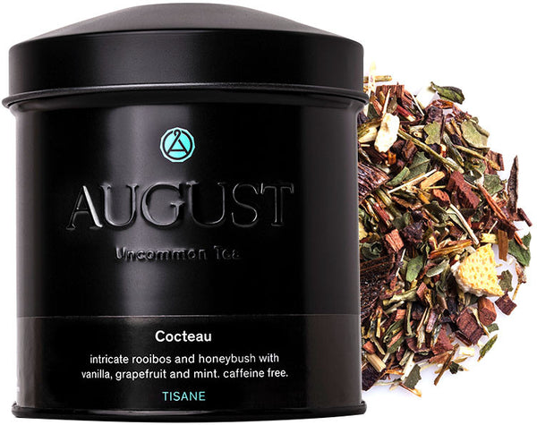 Cocteau - intricate rooibos and honeybush with vanilla, grapefruit and mint. caffeine free.