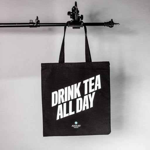 Drink Tea All Day Canvas Tote