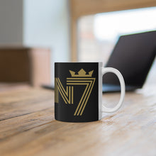 Load image into Gallery viewer, KENN7 GOLD Black MUG