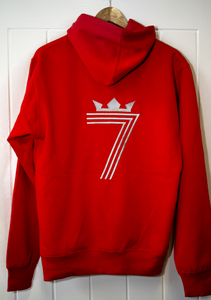 LIMITED EDITION 70th BIRTHDAY DOUBLE #7 HOODIE Silver (3 Different Colours of Hoodie)