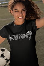 Load image into Gallery viewer, RETRO KENN7 White Logo T-Shirt (4 Colours of T-Shirt)