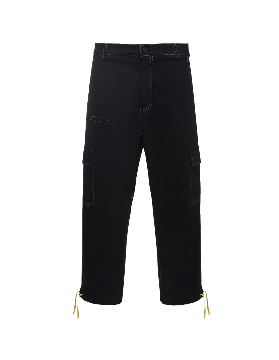 Men black cargo pants