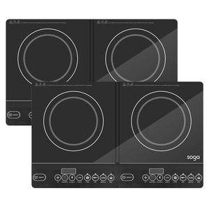 2X Cooktop Portable Induction LED Electric Double Duo Hot Plate Burners Cooktop Stove