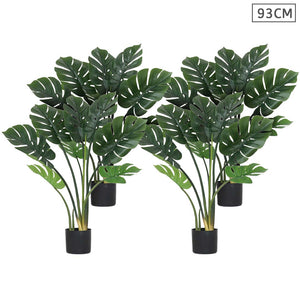 4X 93cm Artificial Indoor Potted Turtle Back Fake Decoration Tree Flower Pot Plant
